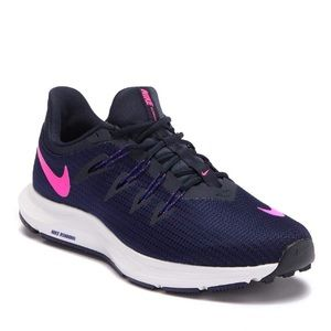Nike Quest Wide Running Sneakers Purple and Pink